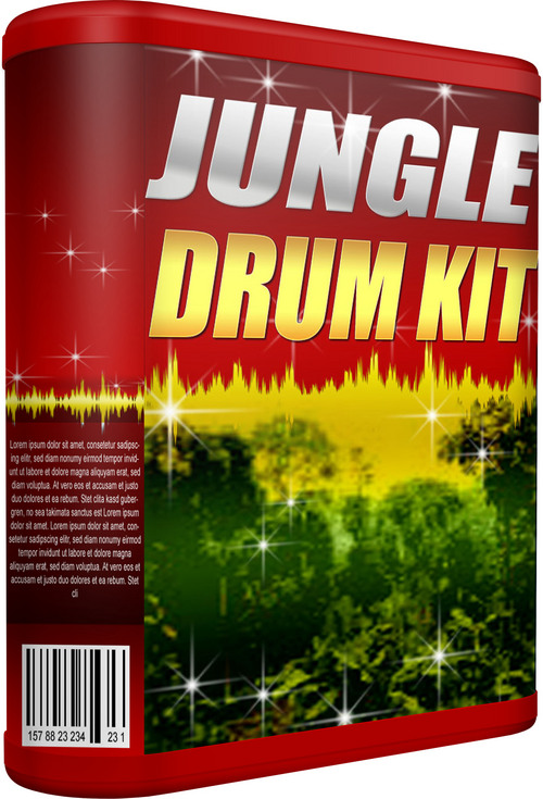 Product picture JUNGLE-DRUM-KIT - INSTANT DOWNLOAD